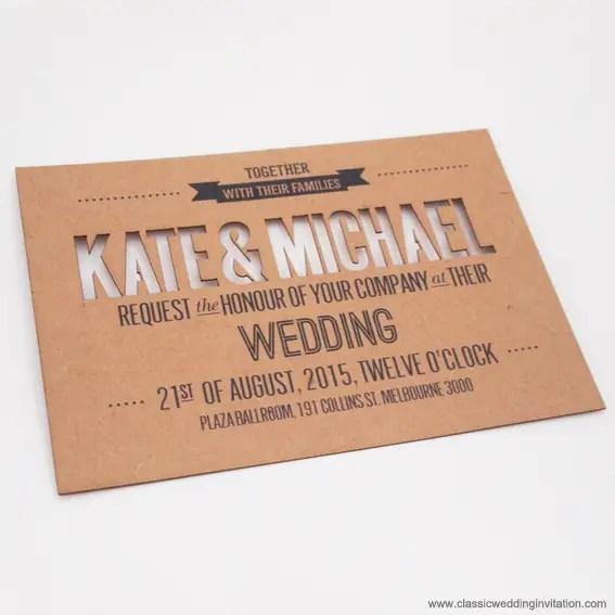 Unique Laser Cut Invitations for Weddings