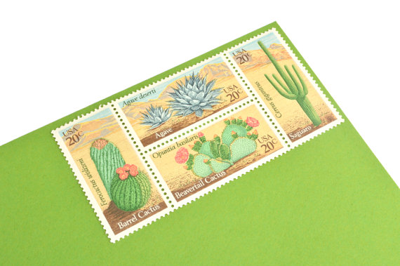 desert plant stamps by gubbagumma