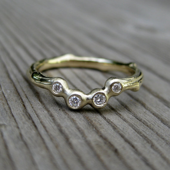 diamond arc wedding band | handmade wedding bands | http://emmalinebride.com/jewelry/handmade-wedding-bands/