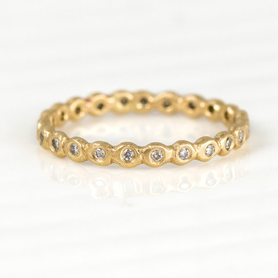 diamond band | handmade wedding rings | http://emmalinebride.com/jewelry/handmade-wedding-bands/
