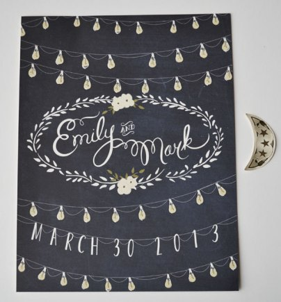 personalized wedding sign with your names and wedding date | #wedding Wedding Poster Ideas for (Easy!) Decor