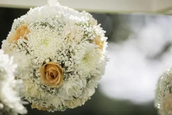 Rebecca Borg Photography - Elgin Country Club Wedding - wedding ceremony hanging pomanders