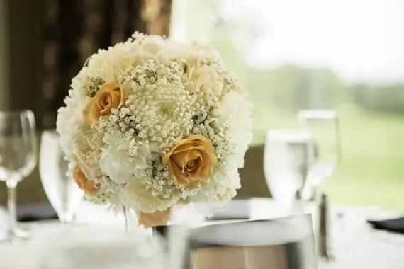 Rebecca Borg Photography - Elgin Country Club Wedding - pomander table centerpiece