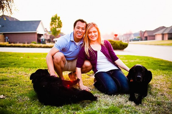 20 Best Engagement Photo Ideas:  The Pups (by Justin Battenfield)