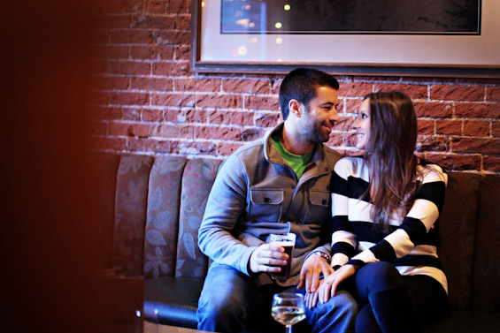 20 Best Engagement Photo Ideas: The Pub (by Cheatwood Photography)