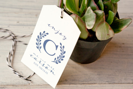 Handmade Wedding Favor Tags | Emmaline Bride