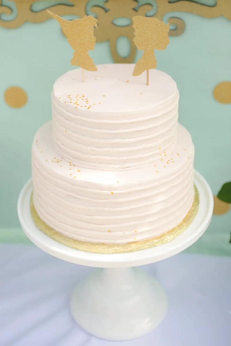 fairytale peterpan tinkerbell cake topper