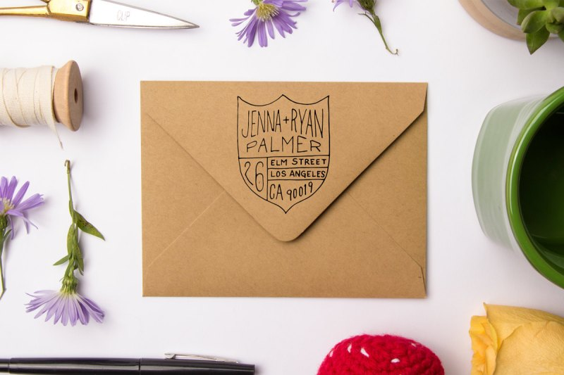 family crest | return address stamps etsy