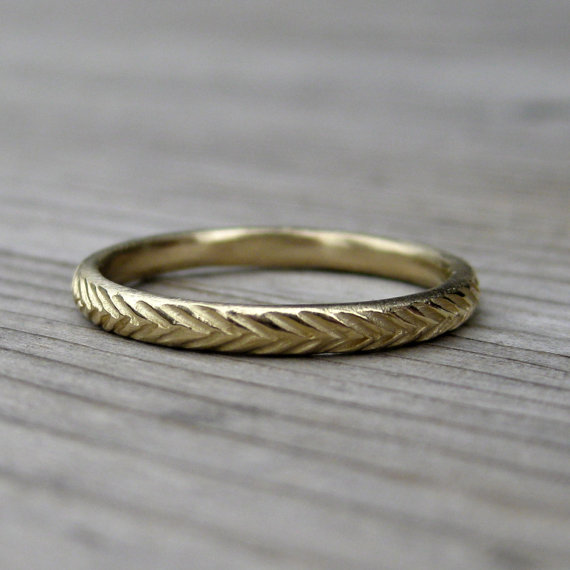 feather wedding band | handmade wedding bands | http://emmalinebride.com/jewelry/handmade-wedding-bands/