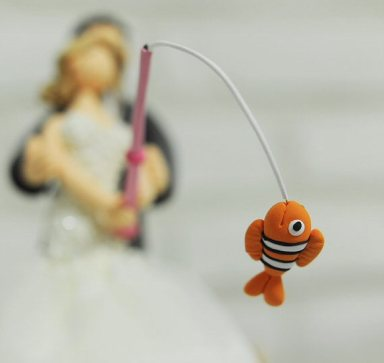 Fishing Cake Topper for Wedding / Groom's Cake - fish
