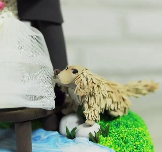 Fishing Cake Topper for Wedding / Groom's Cake - dog