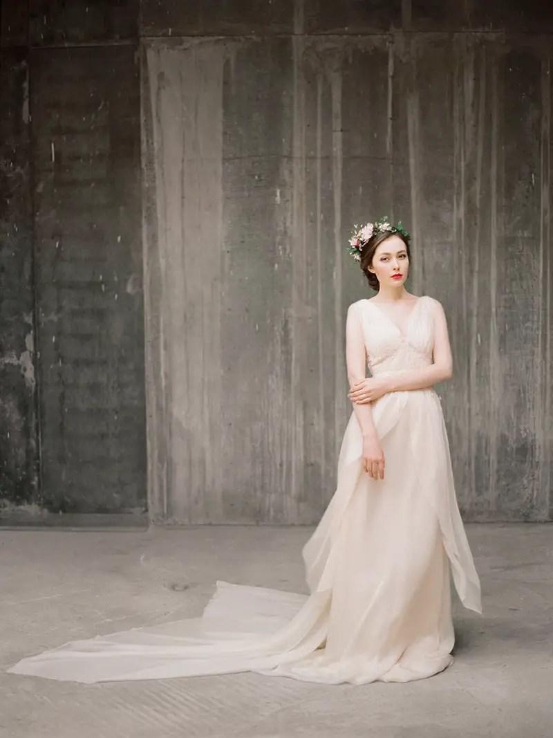 flowy chiffon wedding dress 2