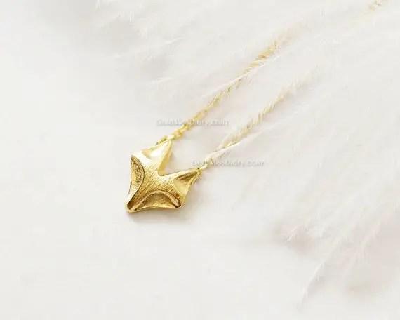 fox necklace in gold by miss diary | Fox Ideas Weddings via http://emmalinebride.com/rustic/fox-ideas-weddings/