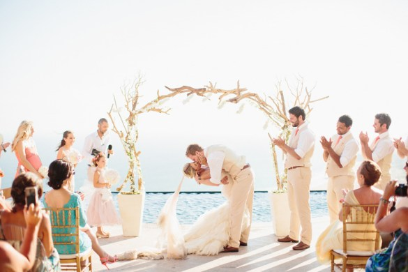 get married under a driftwood arch