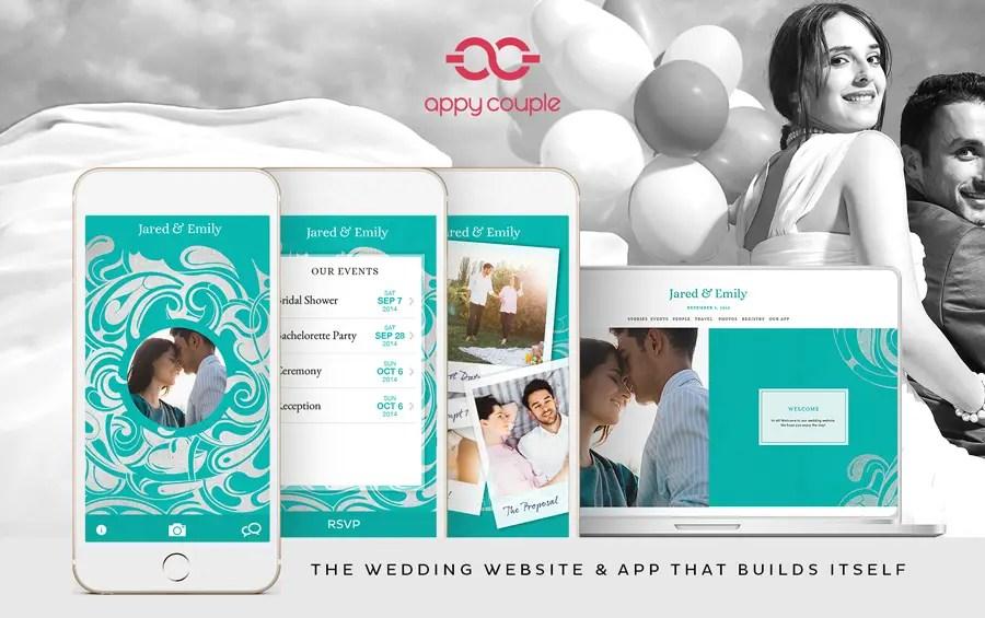 wedding website app - appy couple