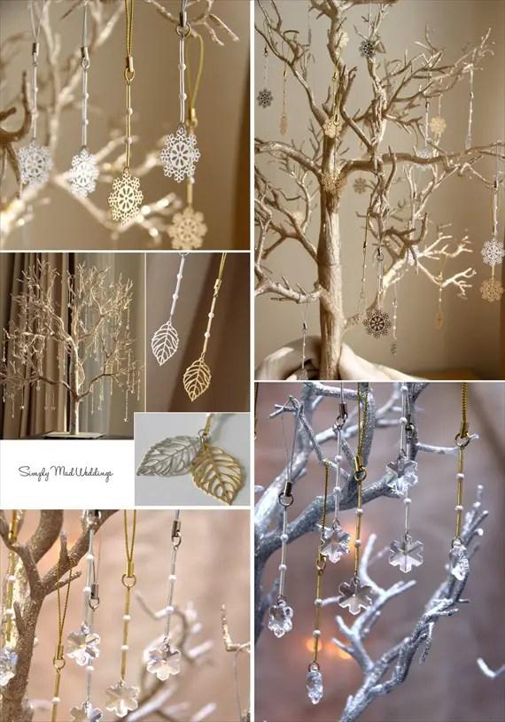 Winter Tree Centerpieces