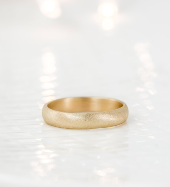 gold band | handmade wedding bands | http://emmalinebride.com/jewelry/handmade-wedding-bands/