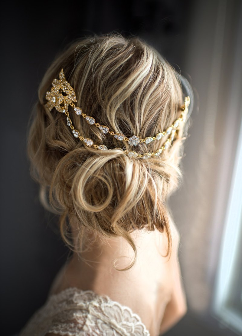 Bridal Hair Chain Instead Of A Veil Emmaline Bride