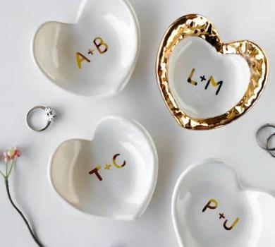 gold ring dish by modern mud