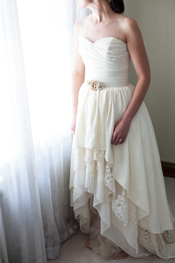 Rhinestone Sash For Wedding Dress 5 New gold vintage brooch sash