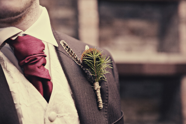 groom's tie vest and boutonniere sherlock wedding