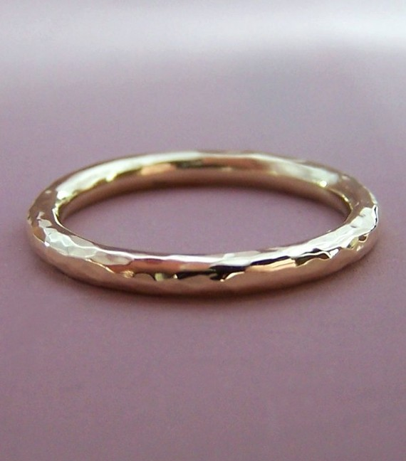 hand hammered wedding band | handmade wedding bands | http://emmalinebride.com/jewelry/handmade-wedding-bands/