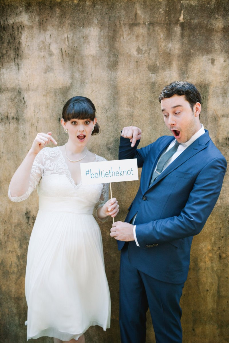 wedding hashtag sign | Fun Wedding Photo Props | http://emmalinebride.com/decor/fun-wedding-photo-props/