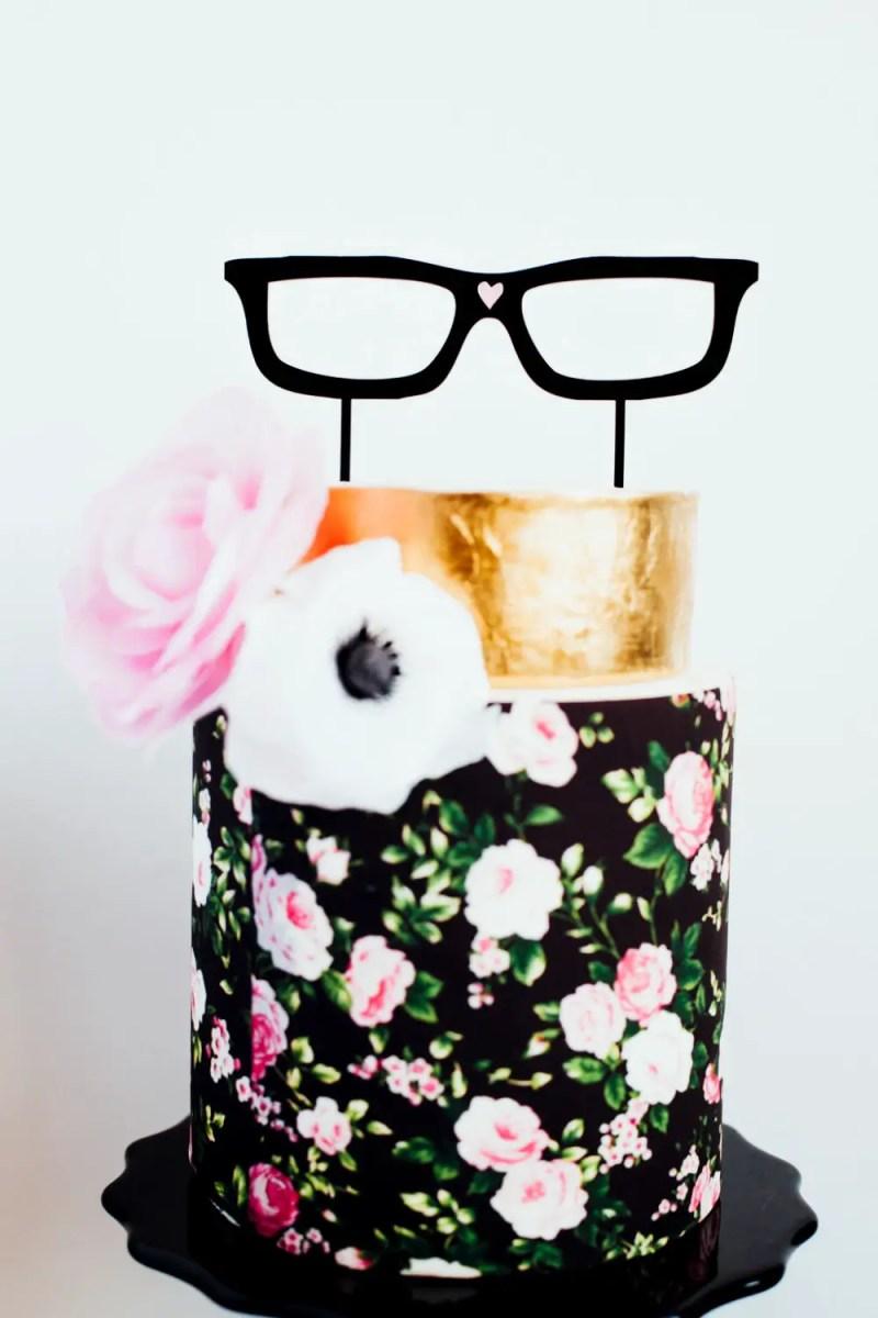 hipster cake topper