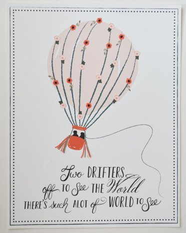 hot air balloon | #wedding Wedding Poster Ideas for (Easy!) Decor