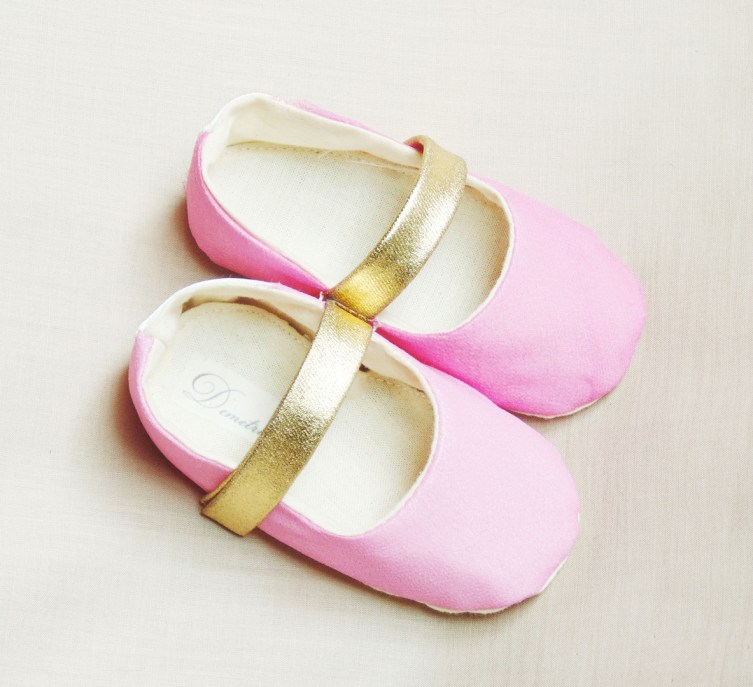 Lace flower girl dresses demetriou handmade wedding hot pink and gold flower girl shoes mightylinksfo Choice Image