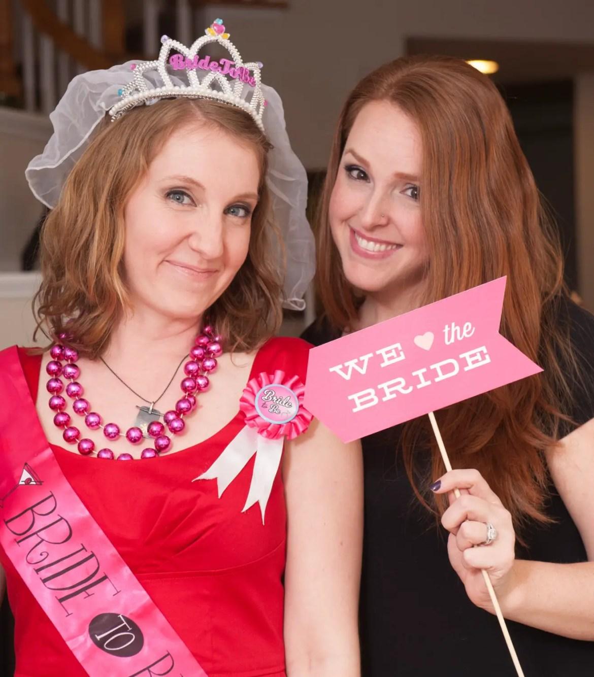 hot pink bachelorette photo props by liddabits | fun bachelorette party ideas | http://emmalinebride.com/planning/fun-bachelorette-party-ideas/
