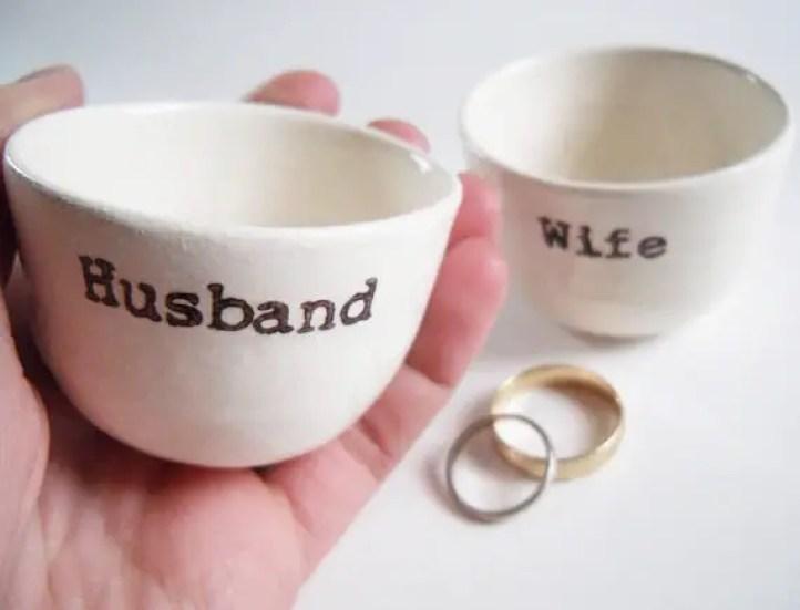 husband wife ring dish