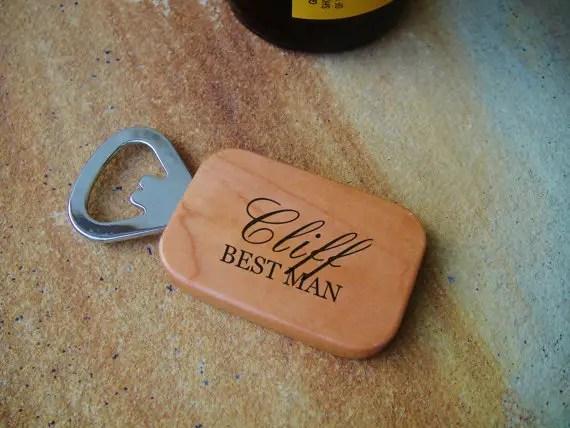 Best Man bottle opener - Groomsmen Gifts Ideas