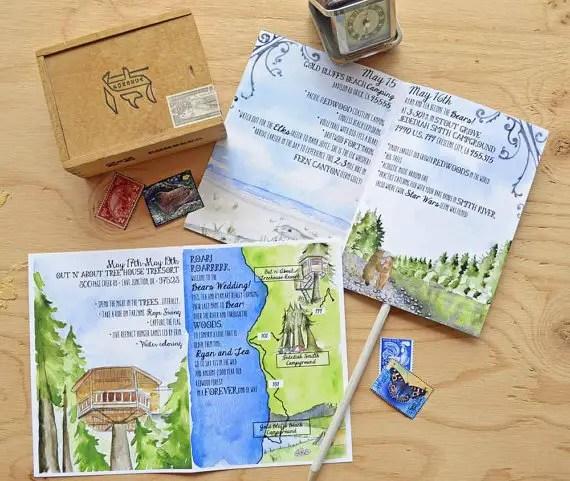 illustrated wedding program via 10 Amazing Handmade Paper Decorations