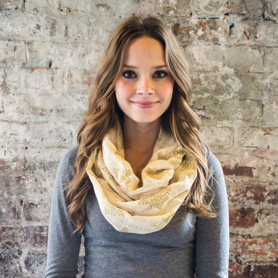 Best Bridesmaid Gifts from A-Z (via EmmalineBride.com) - infinity scarf by maelu designs