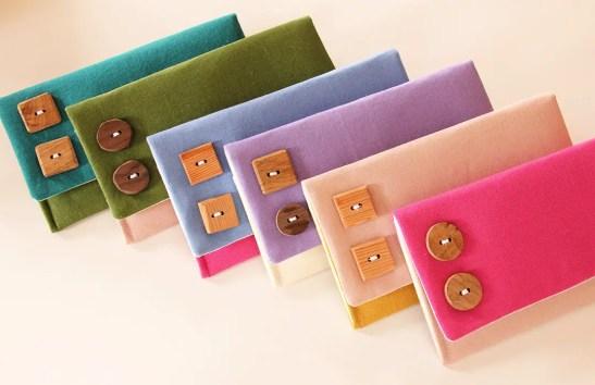 katie linen fold over clutch purses multi color