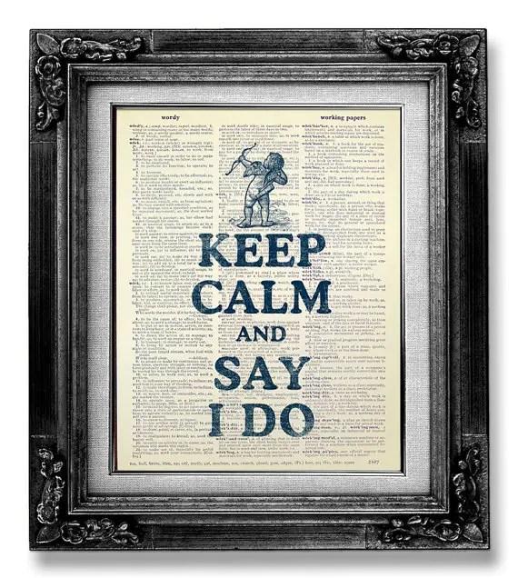 keep calm and say i do arrow print