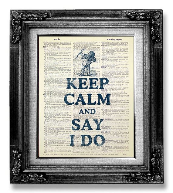 keep calm and say i do arrow print