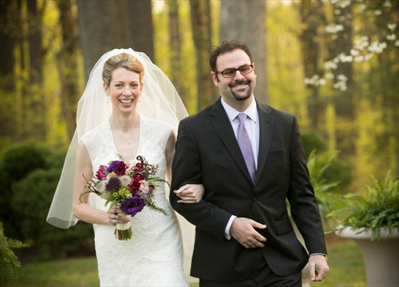 keira-and-jonathan-walk-down-the-aisle-together - Liriodendron Mansion Wedding