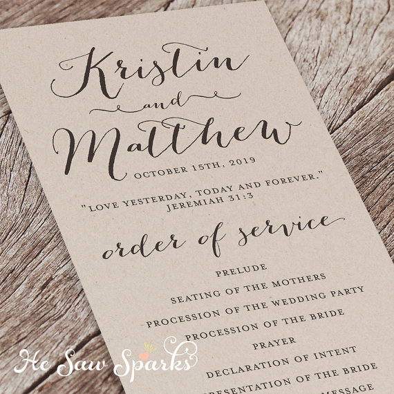 No Ceremony Just Reception: Are Wedding Programs Required?