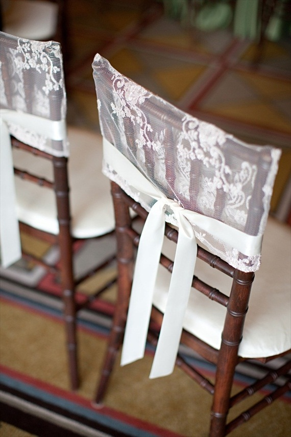 7 Stylish Wedding Chair Covers - lace (photo: stephanie fay)