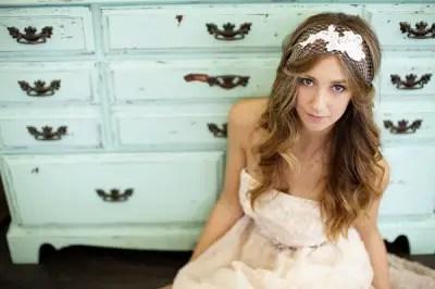 lace veil headband