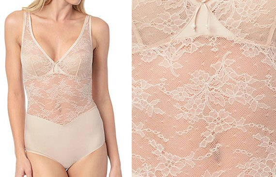 lacy wedding shapewear via What to Wear Under the Dress