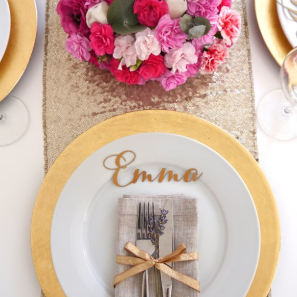 laser cut place card name - right