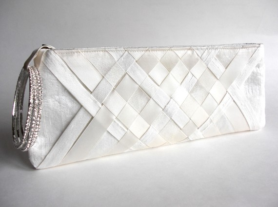 wedding wristlet - lattice keep bag 2