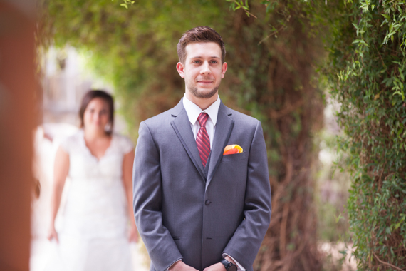 first look before ceremony - leah and chase - hagerty photography