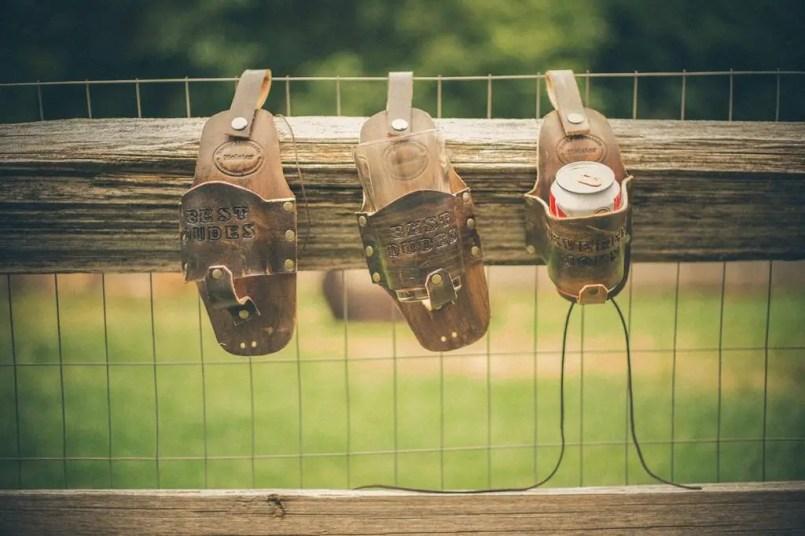 leather beer holsters for groomsmen 2