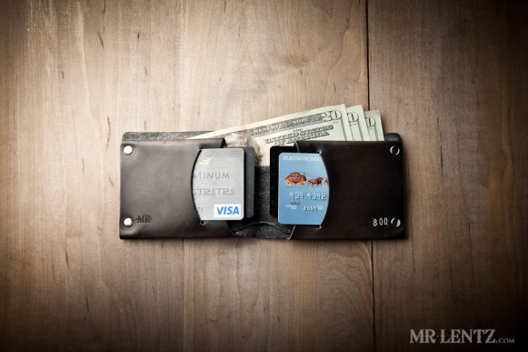 leather groomsmen wallets in black