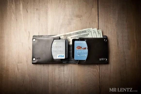 leather groomsmen wallets in black