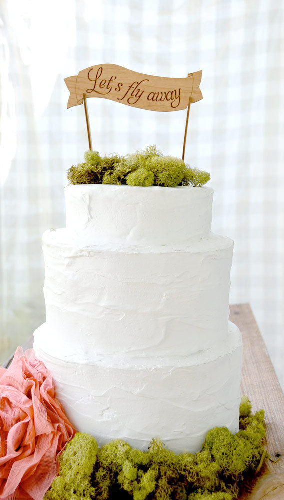 lets fly away boho cake topper